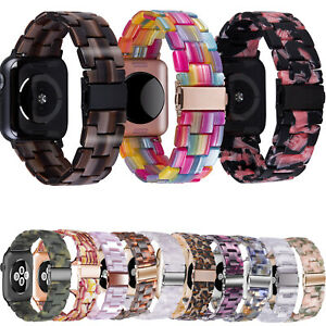 38/42/40/44mm Resin Wrist Band Strap For Apple Watch iWatch Series SE 6/5/4/3/2