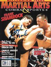 Frank Shamrock Signed 2000 MMA Martial Arts & Combat Sports Magazine BAS COA UFC