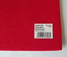 Tessuti e stoffe rossi in feltro per hobby creativi