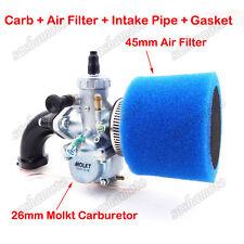 26mm Molkt Carburetor Filter Intake For KLX TTR Lifan YX 125 140 150cc Dirt Bike