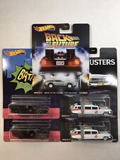 Hot Wheels Premium Lot Batman, Ghostbusters, & Back To The Future