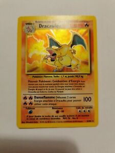 CARTE POKEMON FR DRACAUFEU 4/102 SET DE BASE Holo Wizards Français