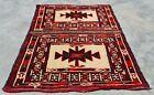 Hand Knotted Vintage Afghan Turkmon Sara Wool Area Rug 1.8 x 1.5 Ft (11955 KBN)
