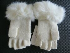 Adrienne Landau Fur gloves women. Org, $75