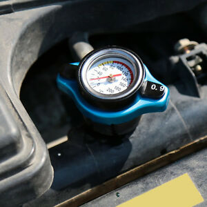 0.9BAR Car Thermost Radiator Cap Cover+ Water Temp Gauge Small Head for Cars SUV