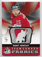 12/13 SP GAME USED AUTHENTIC FABRICS TEAM CANADA LOGO PATCH Dany Heatley 1/1 4CL