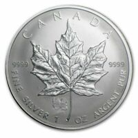 2006 1 oz Canada Silver Maple Lunar Dog Privy Coin (BU) with Light Spotting