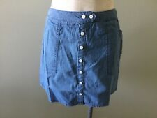 Jolt Skirt Blue Front Button 3 New with Tags White Dots  Cotton