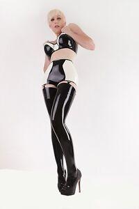 743 Latex Rubber Gummi Shorts Bra underwear undies panties customized 0.4mm sexy