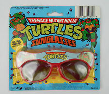 Vintage NOS TMNT Ninja Turtles Kids UV Sunglasses Red Plastic New in Package