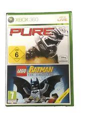 Pure + Lego Batman: The Videogame (Microsoft Xbox 360) Spiel in OVP PAL Version