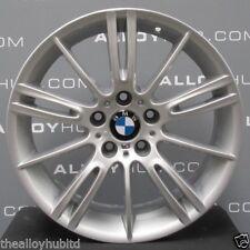 "GENUINE BMW 3 SERIES E90/91/92/93 193M MV3 SPORT SILVER 18"" INCH ALLOY WHEELS X4"