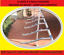 6 Waterfall Garment clothing Hanger Rack 5 Bead for Market Stall Gazebo Marquee