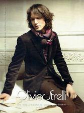 Publicité Advertising 1020 2009  Olivier Strelli  mode   haute couture homme