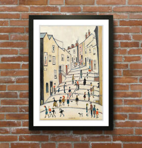 Crowther Street People FRAMED WALL ART PRINT ARTWORK PAINTING LS Lowry Style
