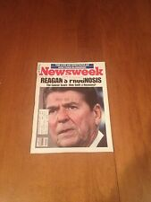 Newsweek Magazine Ronald Reagan Prognosis July 22 1985 Live Aid Clint Eastwood