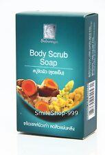 Body Scrub Soap Sabunnga Cool Formula Remove Dead Skin and Deodorize Thai Herbal