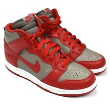 NWT Nike Dunk Retro High QS Red Gray UNLV Leather Sneakers 9.5 DS 2016 AUTHENTIC