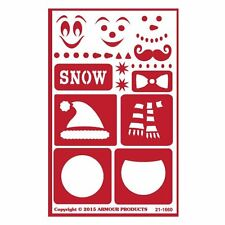 Armour Reusable Over n Over Glass Etching Stencil - ONO Snow Fun Winter