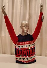 NWT NHL Washington Capitals Light 'em Up Christmas Sweater with Lights. Large