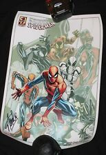 "Amazing Spider-Man Happy Birthday Print by Ramos Signed by Stan Lee 18x13"" Auth"