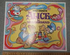 Disney's Alice in Wonderland (1974) Original Half-Sheet 22x28 Movie Poster y4754