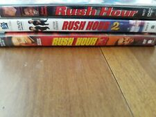 Rush Hour Trilogy Dvd Set Lot Of 3