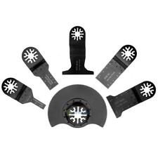6Pcs Oscillating HCS Multi Tool Saw Blades Woodworking Plastic Metal Accessories
