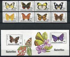 DOMINICA 1994 Schmetterlinge Butterflies Farfalla Mariposa 1834-41 + Bl.262-263