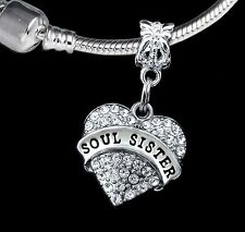 Soul Sisters charm gift fits European bracelet best gift  (charm only)