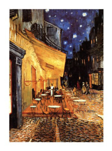 The Cafe Terrace on the Place du Forum Arles at Night Van Gogh Giclee Repro 24x2