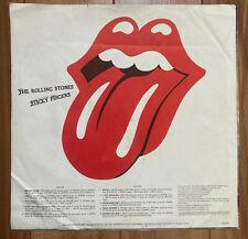 """Rolling Stones """"Sticky Fingers"""" Vinyl LP [Inner Sleeve Only]"""