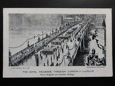 Royal Procession KING GEORGE V Naval Brigade on London Bridge 23rd June 1911