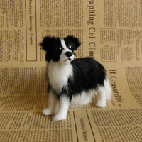 Realistic Border Collie Plush Toy Lifelike Shepherd Simulation Dog Model Mini