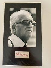 Enzo Ferrari - Seltenes originales Autogramm - Rennfahrer, Legende, Italiener