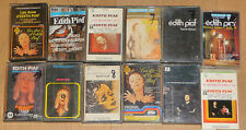 Lot de 12 Cassettes Tape K7 Edith Piaf