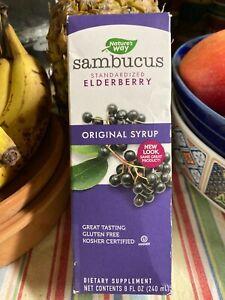 Nature's Way Sambucus Standardized Elderberry Original Syrup 8 FL OZ | Exp 08/21