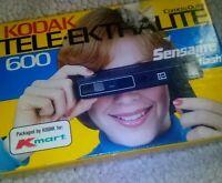 VINTAGE EARLY 1980s KODAK TELE-EKTRALITE 600 110 FILM CAMERA w/ ORG BOX!!