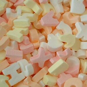 ABC Candy Letters Retro Sweets Party Wedding Favours Candy Buffet Pick n Mix