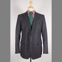 Brooks Brothers 42R Gray Check Wool Two Button Mens Sport Coat Blazer Jacket