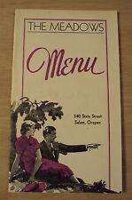 "RARE 1930's ""MENU"" The MEADOWS~Salem Oregon~Rieck Brothers DAIRY Ad~"