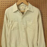vtg 50s 60s usa made ARROW shirt LARGE rayon loop collar rockabilly mod