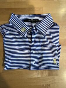Scotty Cameron Ralph Lauren Polo Golf Shirt XL Blue Stripes