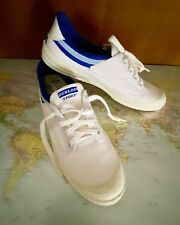 Vintage 80s Original Dunlop Volley White Tennis Shoes Canvas Runners