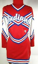 "Indians 3 Piece Cheerleader Uniform Outfit 28-36"" Tops 23-28"" Skirt Choose Size"
