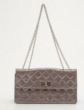 Authentic CHANEL $5,500 Silver Sparkle Reissue *Limited Edition* Flap Logo Bag