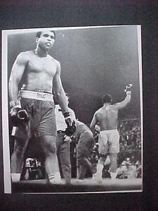 1971  MUHAMMAD ALI VS JOE FRAZIER AFTER THE 15TH ROUND  ORIGINAL TYPE 2 PHOTO