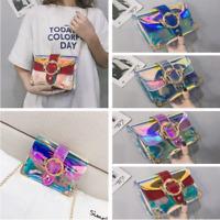Fashion Laser Bag Jelly Color Shoulder Bag for Women Beach Crossbody Messenger