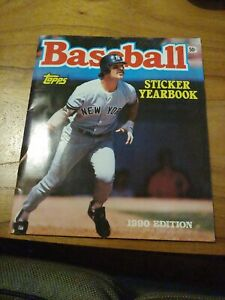 1990 Topps Baseball Complete Sticker Yearbook. Don Mattingly . Ken Griffey Jr
