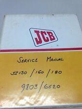 JCB JS130, JS160, JS180 Hyd Excavator Workshop Manual